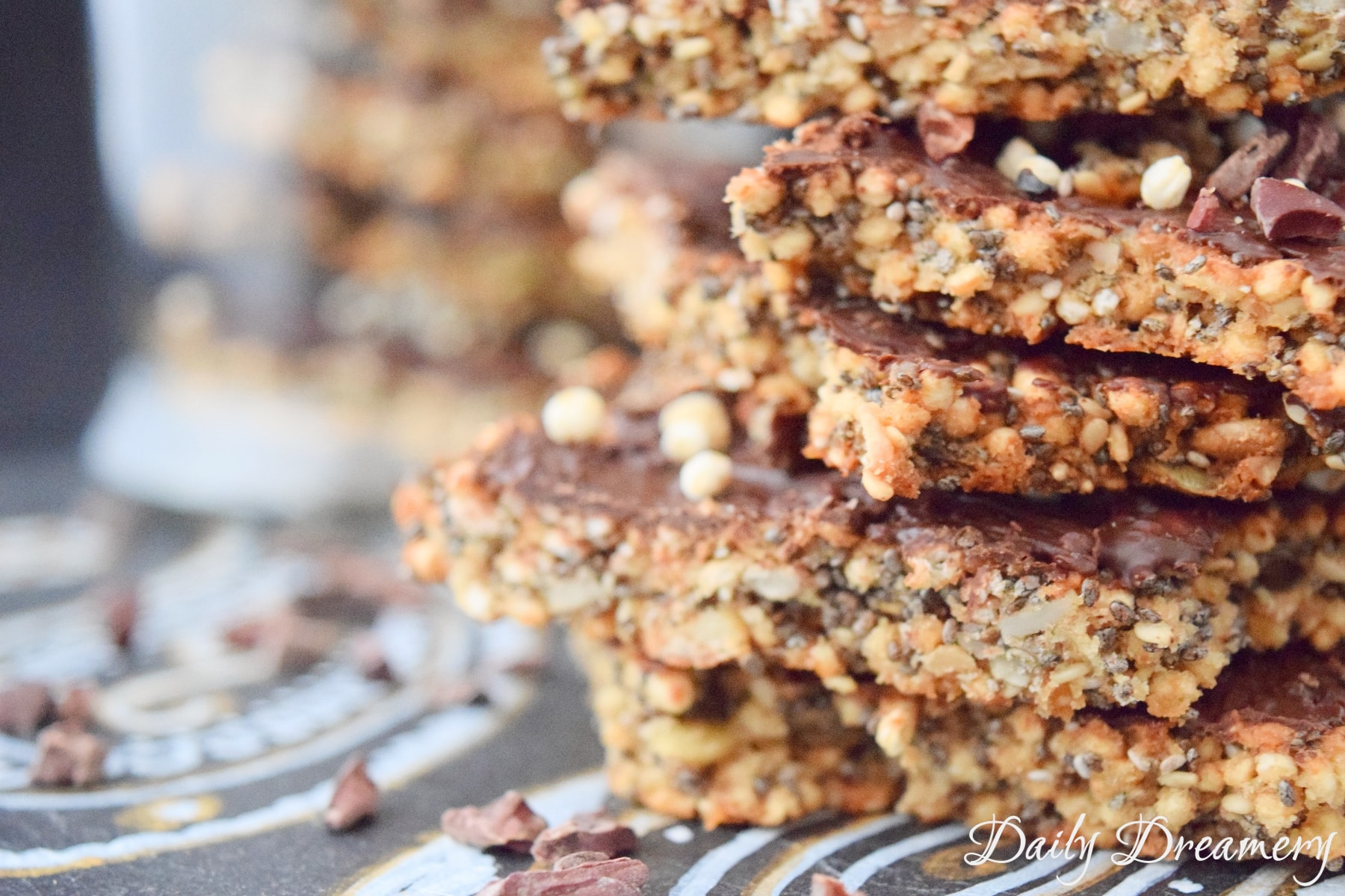 vegane Müsliriegel Chiasamen Quinoa