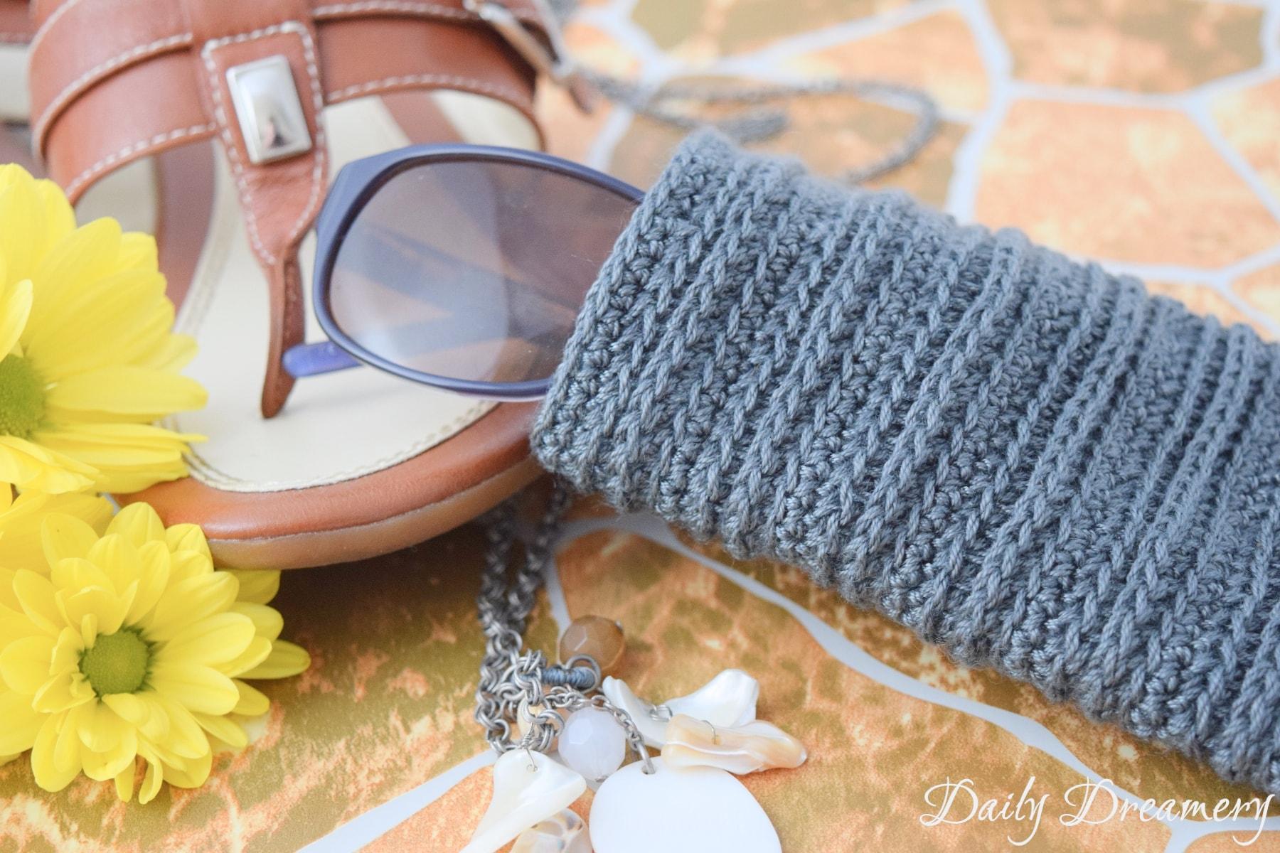 Sonnenbrillenschutzhülle häkeln
