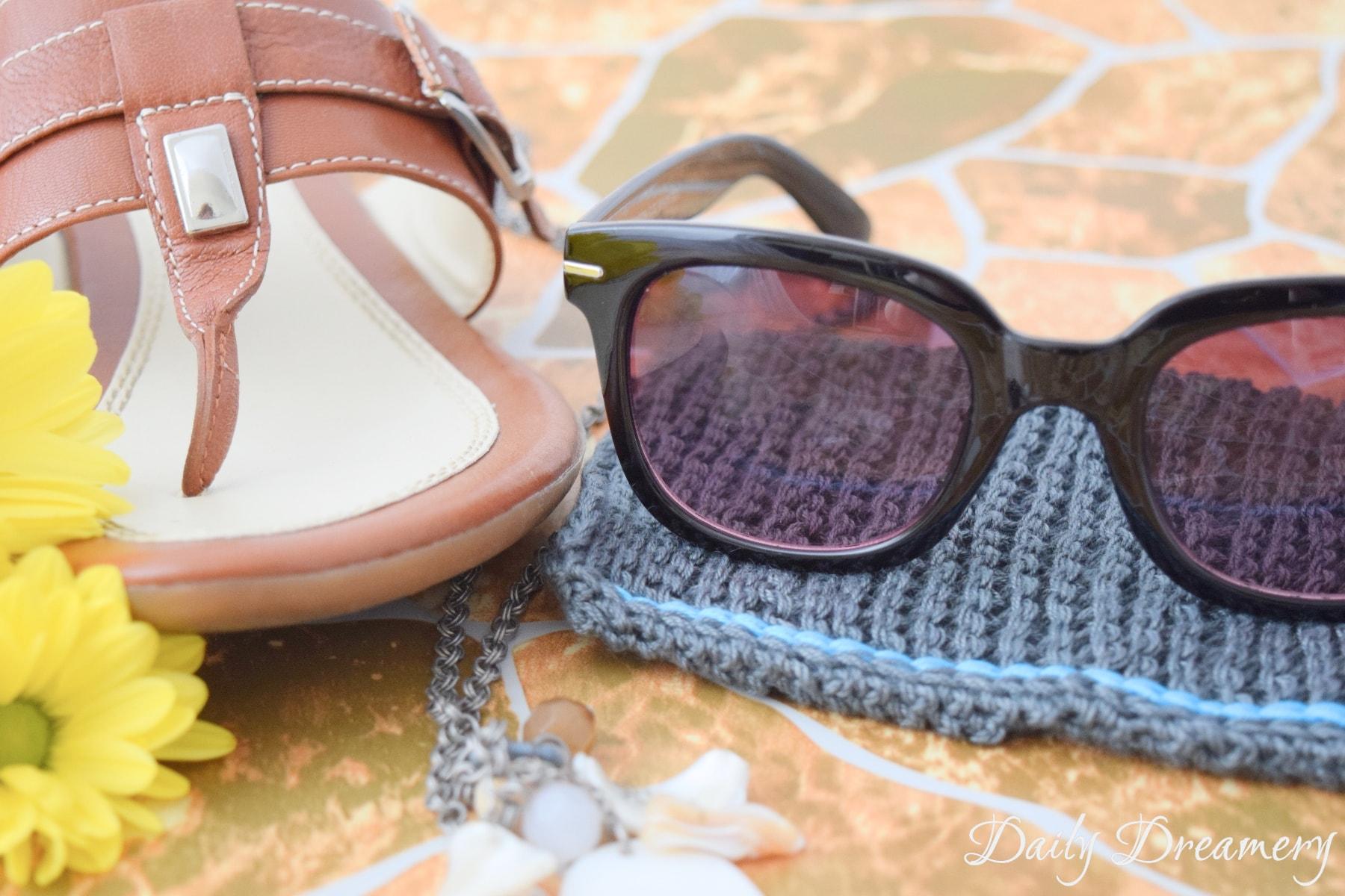 Sonnenbrillenschutzhülle stricken