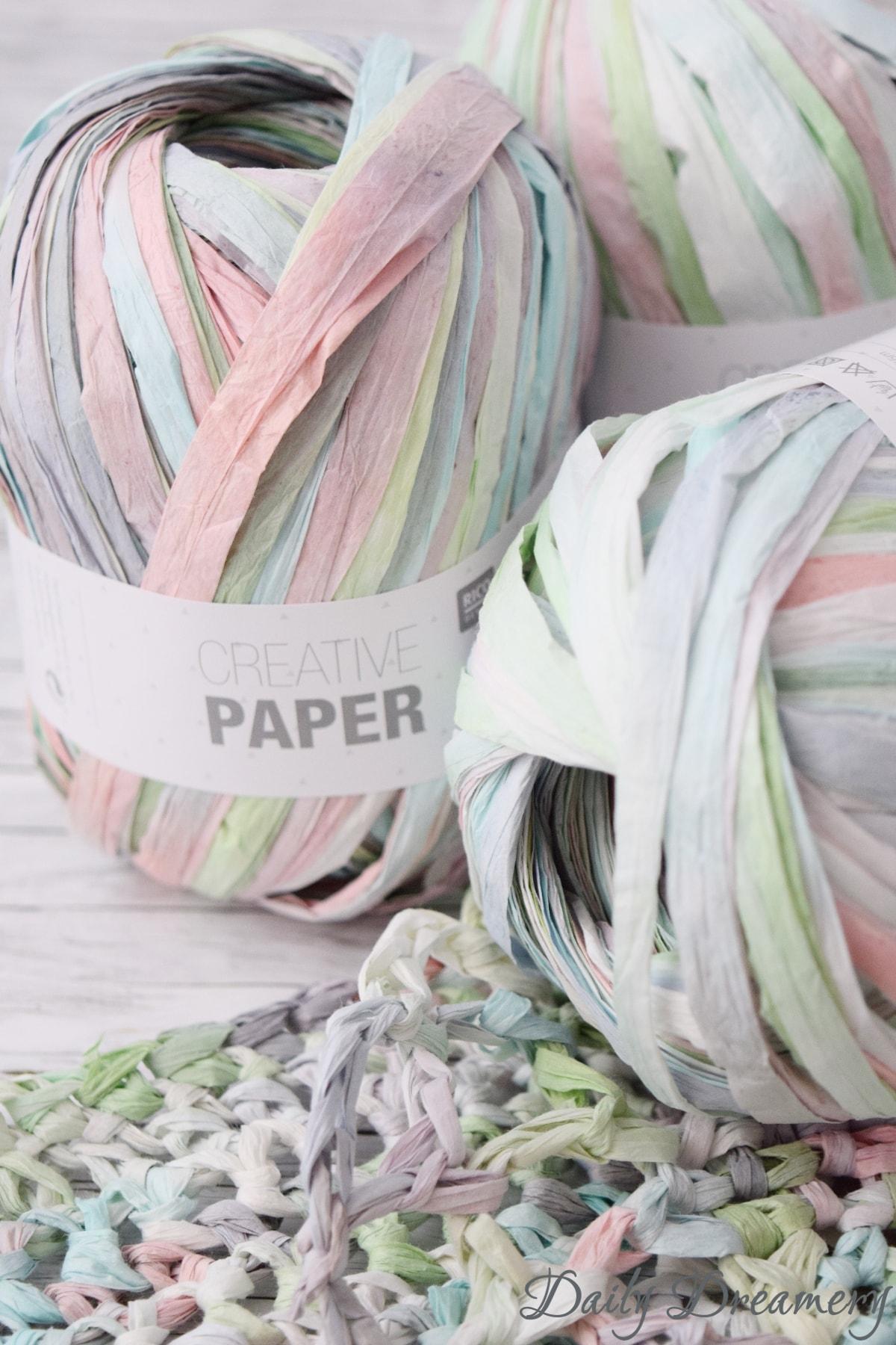 Häkeln mit Papiergarn