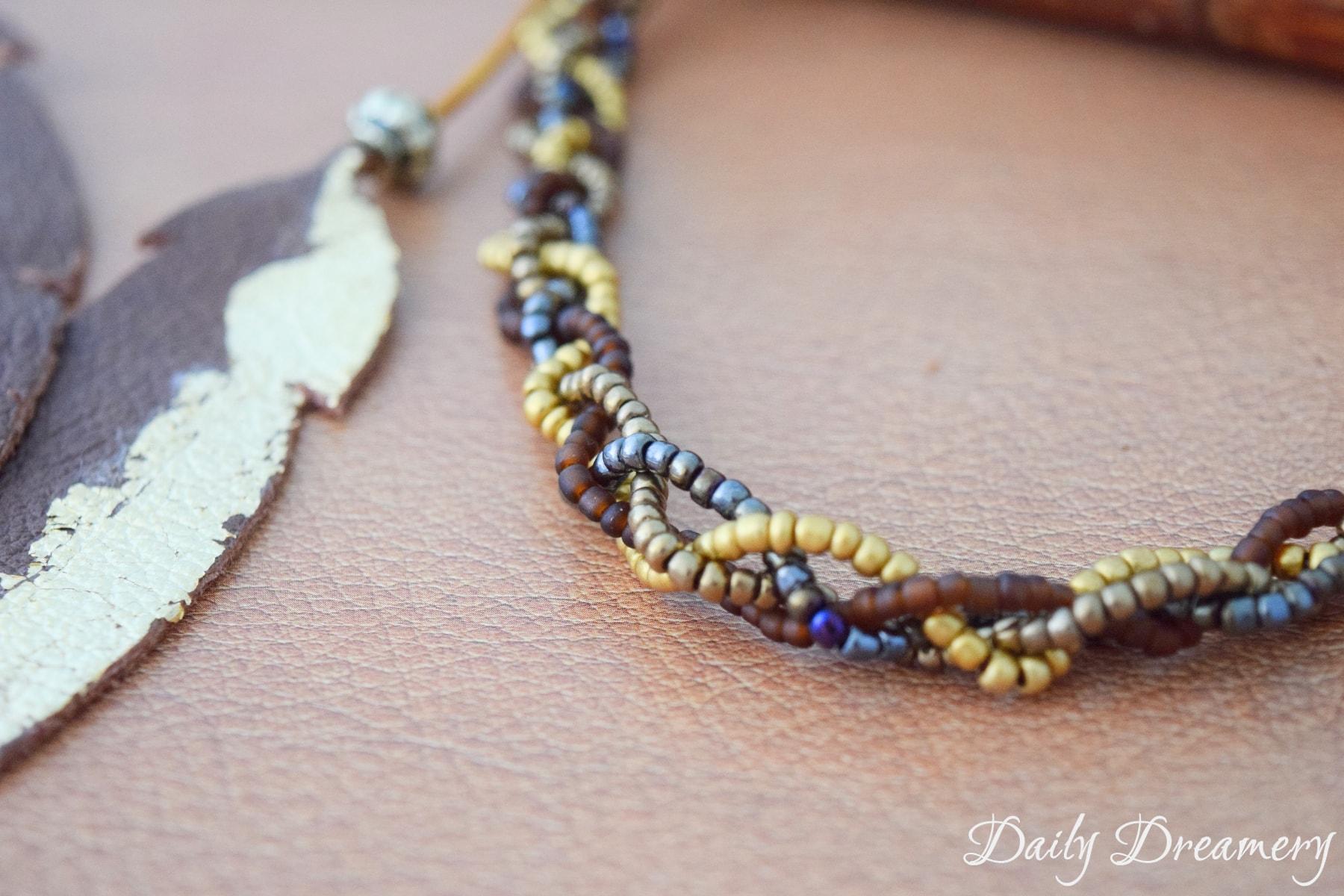 Perlenhaarband Haarband aus Perlen