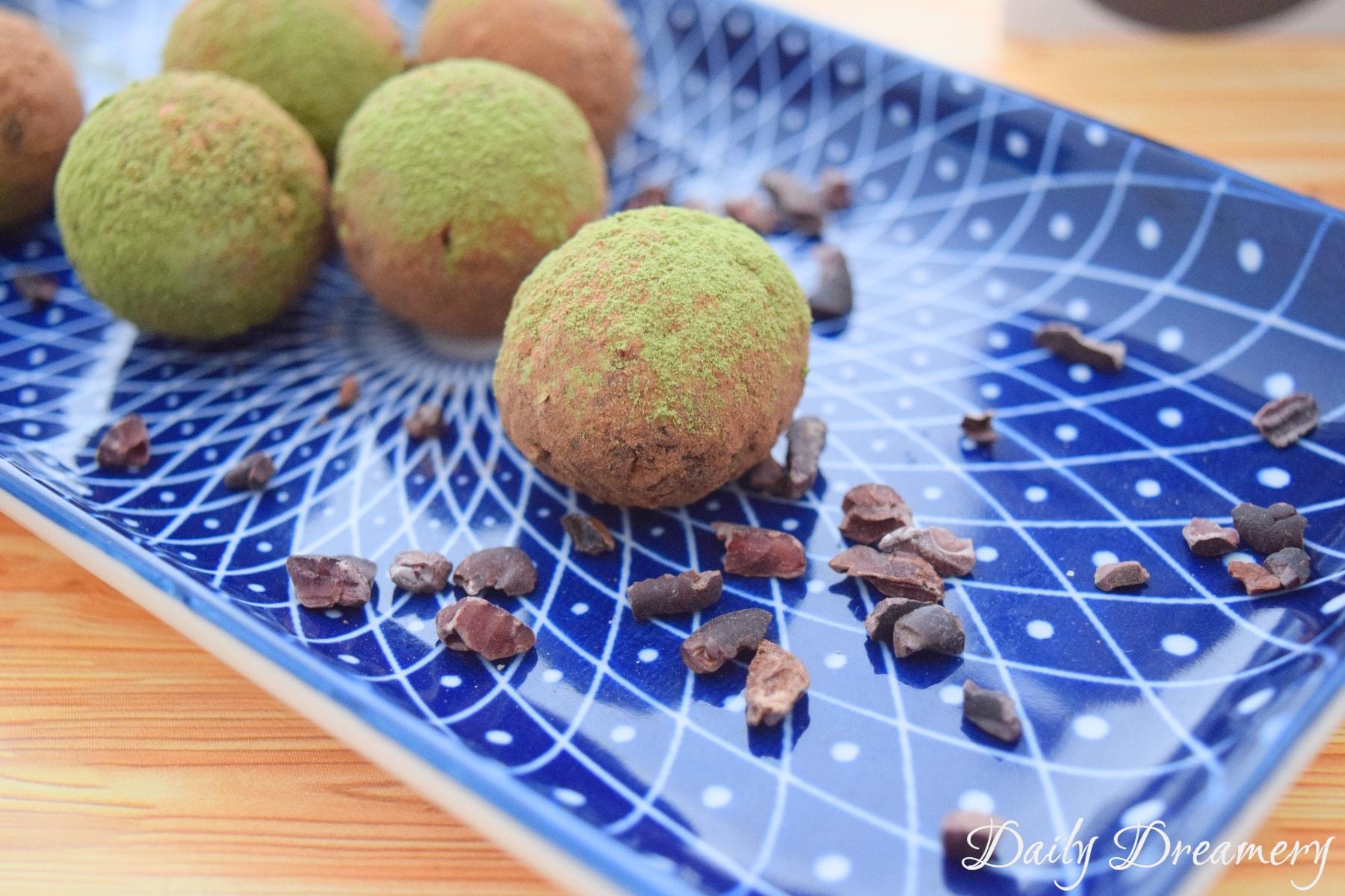 vegane Energyballs, gesunde Pralinen