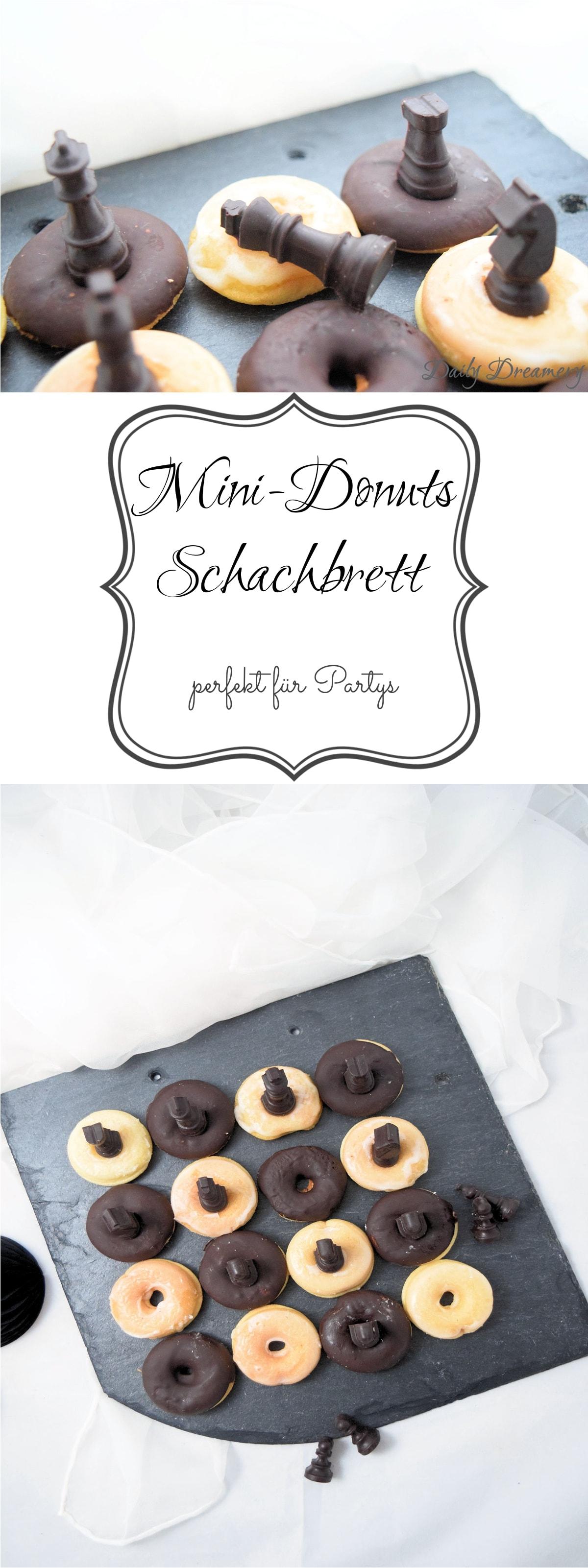 Mini-Donuts in klassisch schwarz-weißer Schachbrettoptik