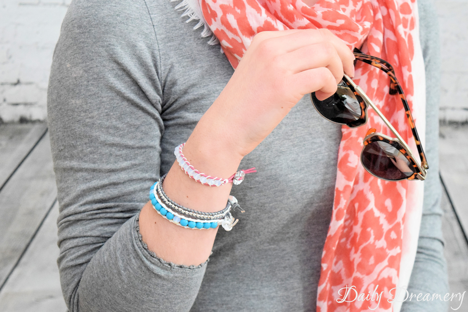 trendiges Armband im Boho-Stil Chan Luu-inspiriert Opal Howlith