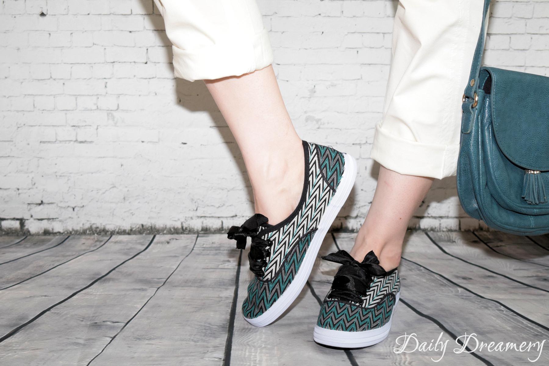 Stylische Stoff-Sneaker - einfach mit Sharpies bemalen