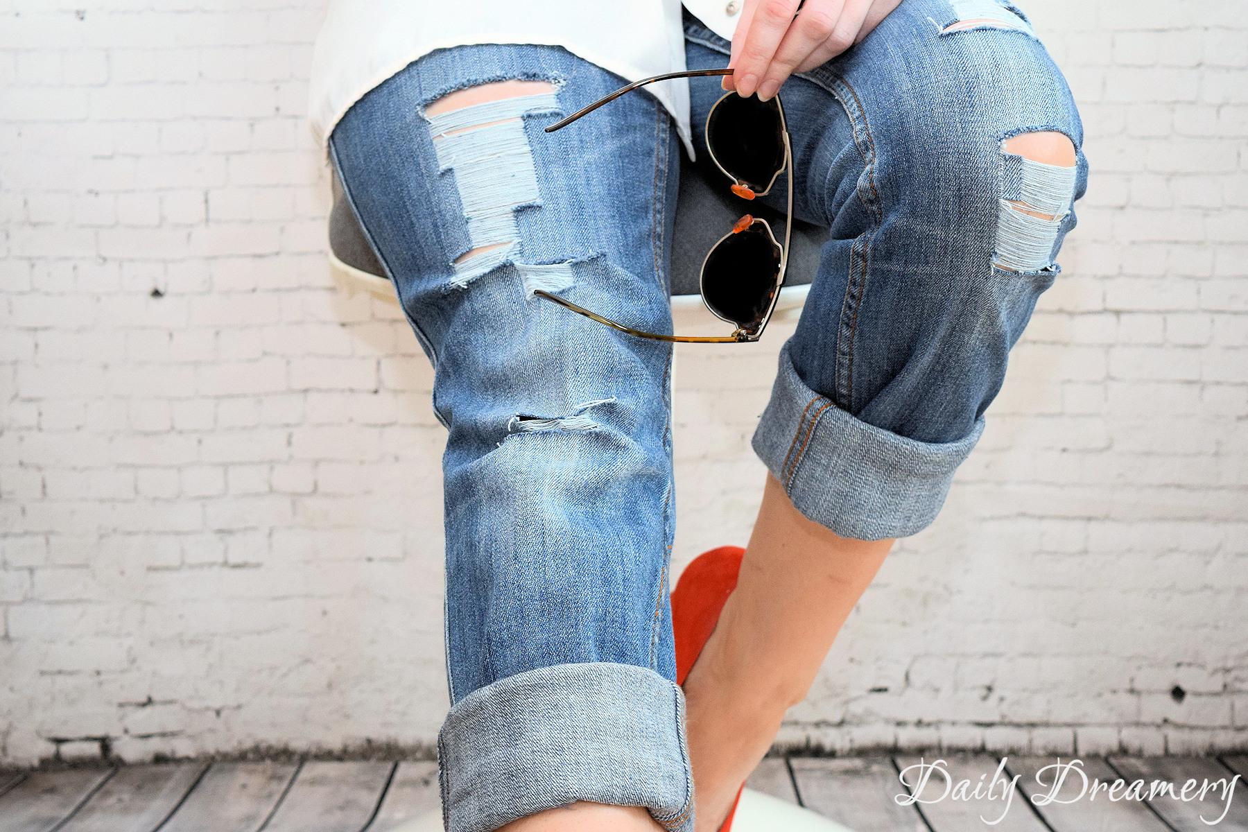 Fabelhaft Sommertrend Ripped Jeans - ganz easy selbermachen – Daily Dreamery #ZI_05