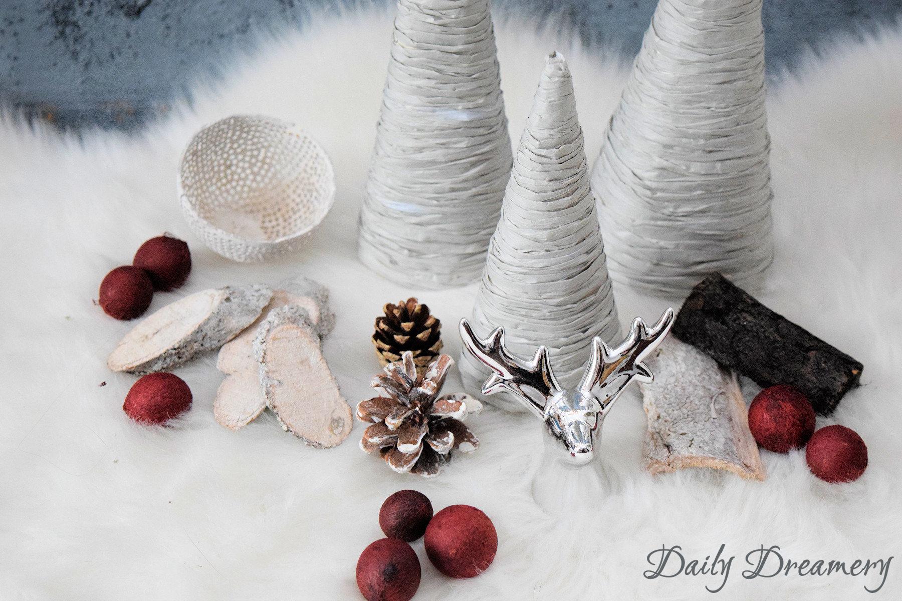 Diy Weihnachtsdeko.Diy Weihnachtsdeko Weihnachtsbaum Papiergarn 6 Daily Dreamery