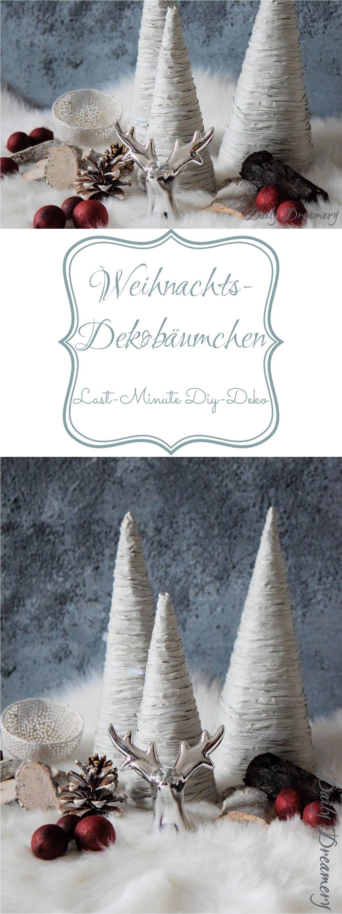 DIY Weihnachtsbäumchen - schnelle Last-Minute Deko-Idee für Weihnachten #weihnachten #weihnachtsdeko #lastminute