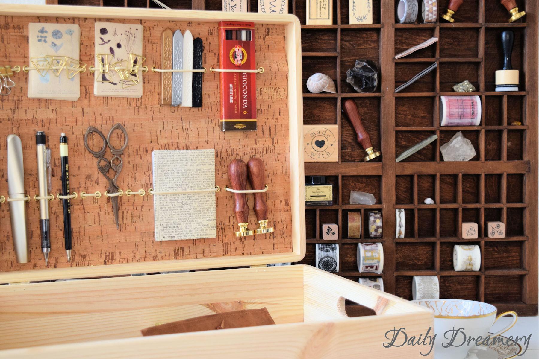 Diy Writing Box Ein Schreibtisch Zum Mitnehmen Daily Dreamery
