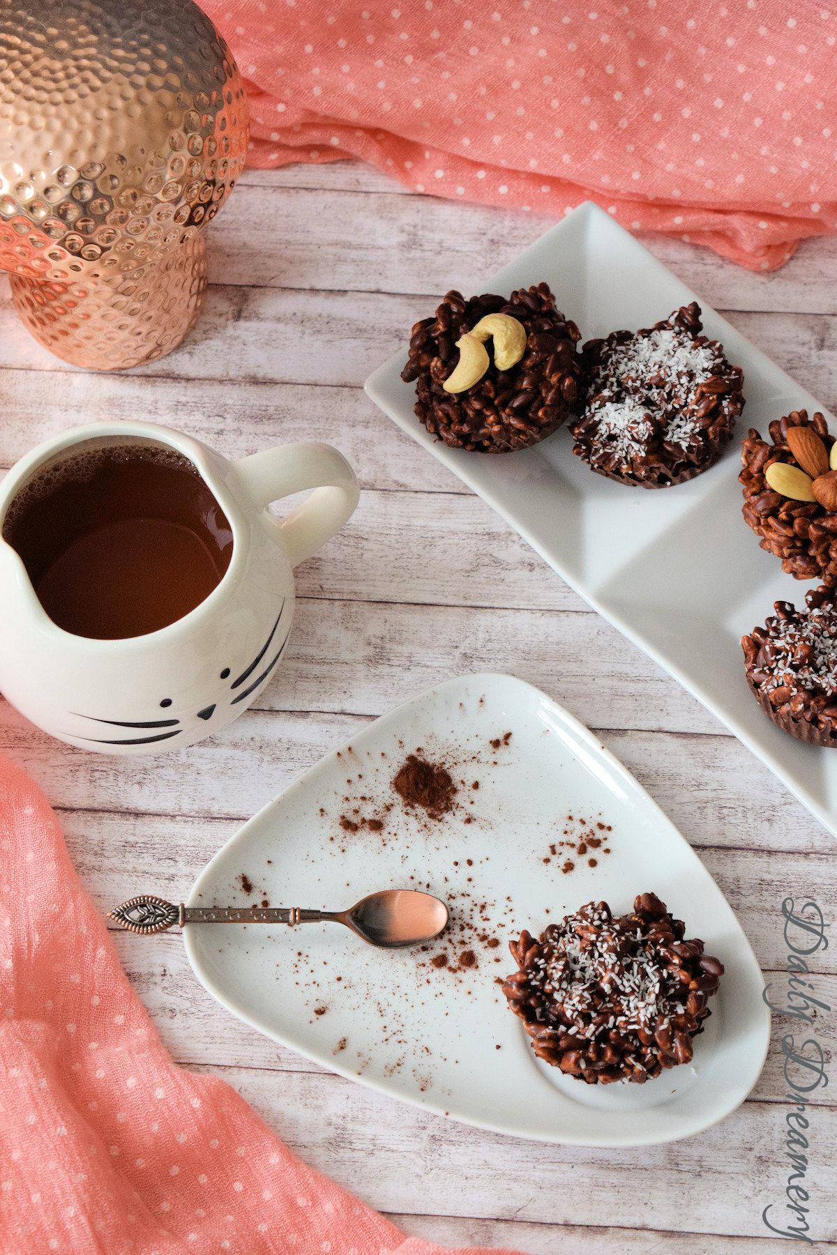Rezept für leckeren veganen Schoko-Puffreis #vegan #schokolade #lecker