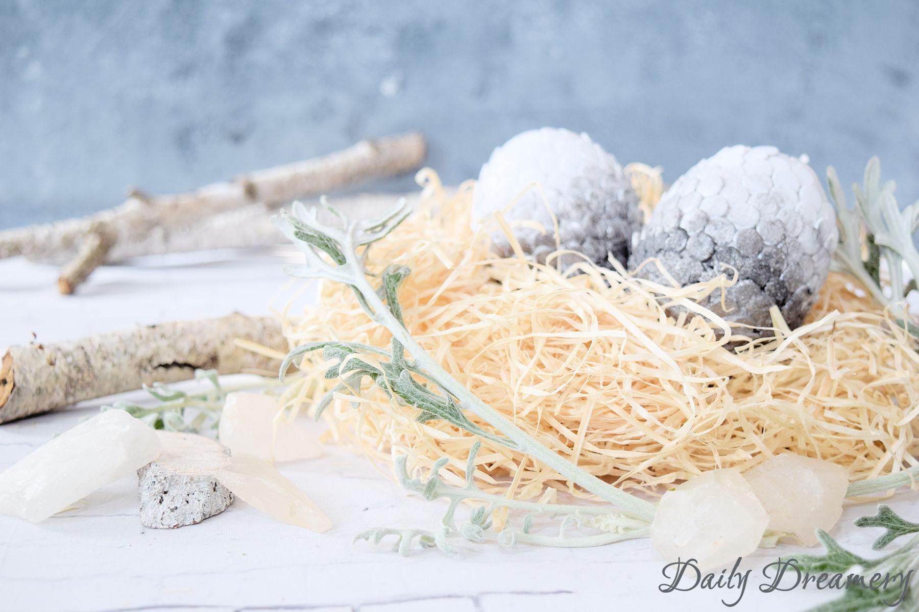 Dracheneier ganz easy selber machen - eine spannende Abwechslung zu klassischen Ostereiern, nicht nur für GoT-Fans #ostern #diy #got