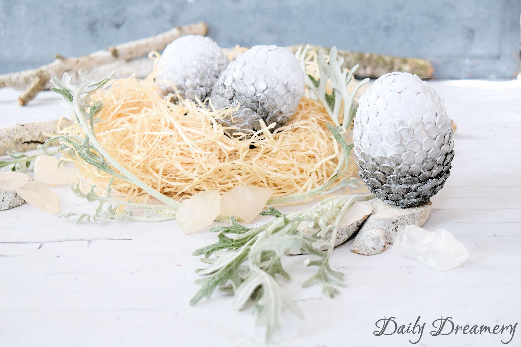 Osterdeko mal anders - Drachen-(Oster)-Eier easy selber machen