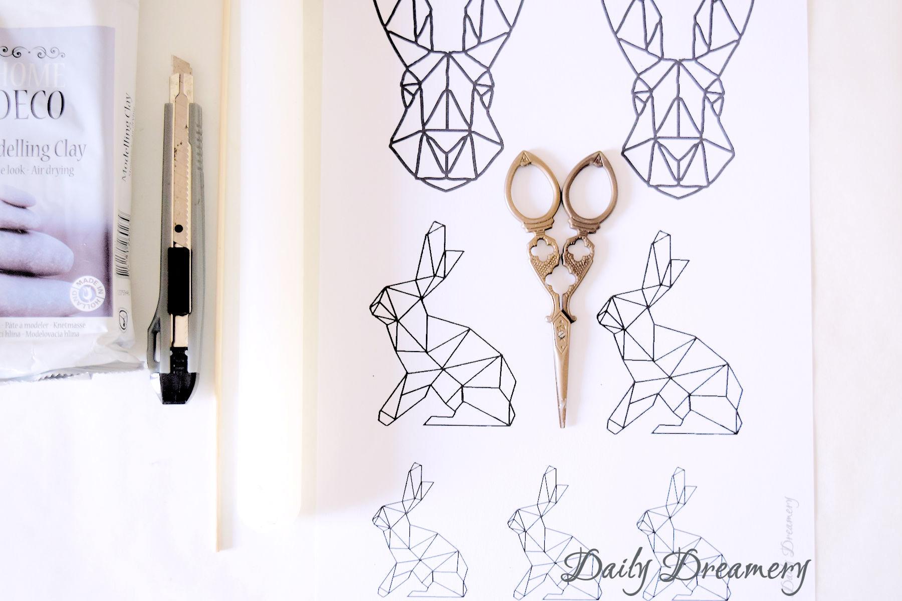 Hasen Geometrie Modelliermasse Ostern Deko Diy 1 Daily Dreamery