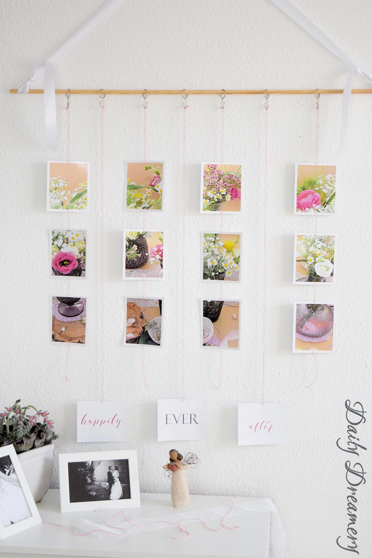 Hochzeitsfotos als Wanddekoration mit posterXXL - Wandbehang aus Fotos #diy #fotos #wanddekoration