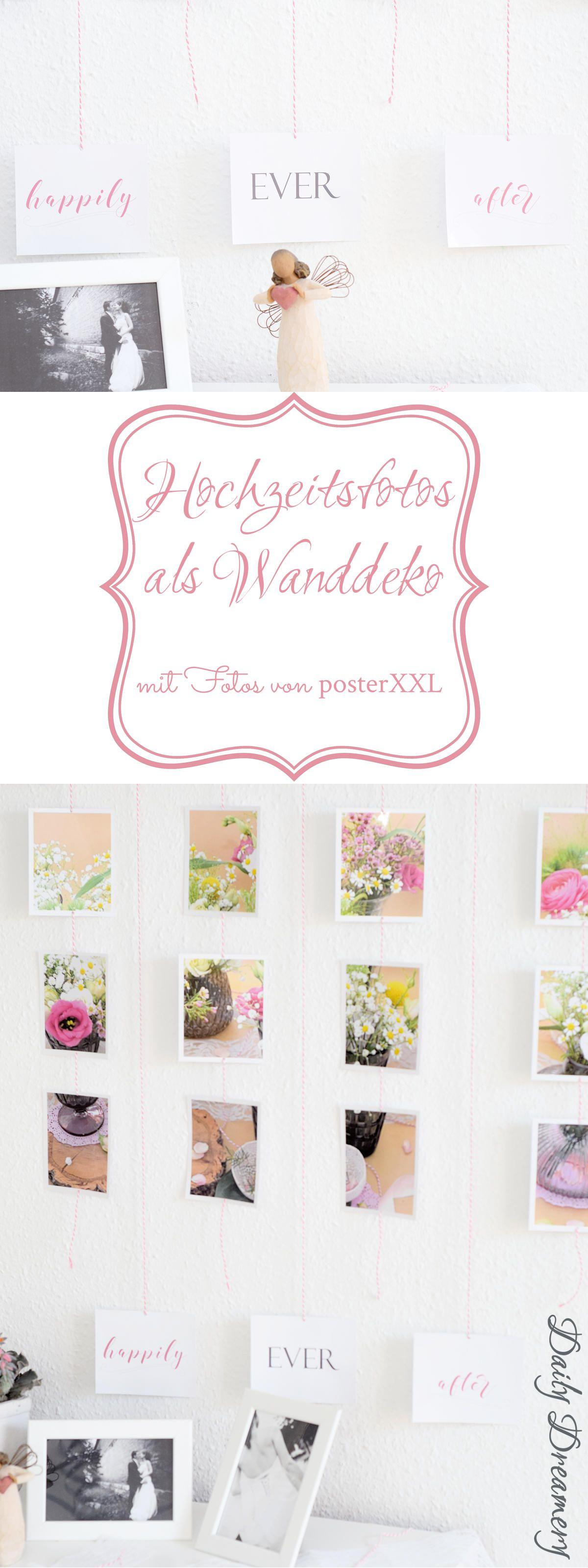 Hochzeitsfotos als DIY-Wanddekoration mit posterXXL - Wandbehang aus Fotos #diy #fotos #wanddekoration