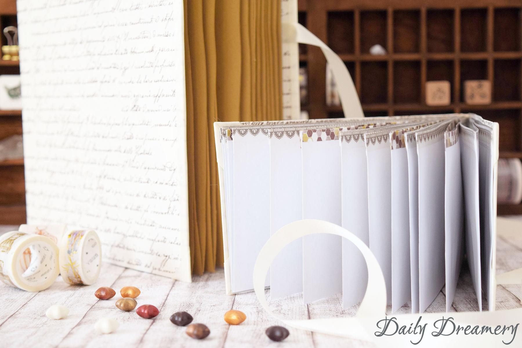 Anleitung für eine DIY-Fächermappe im XXL-Format und im Vintage-Look #diy #stationery #fächermappe
