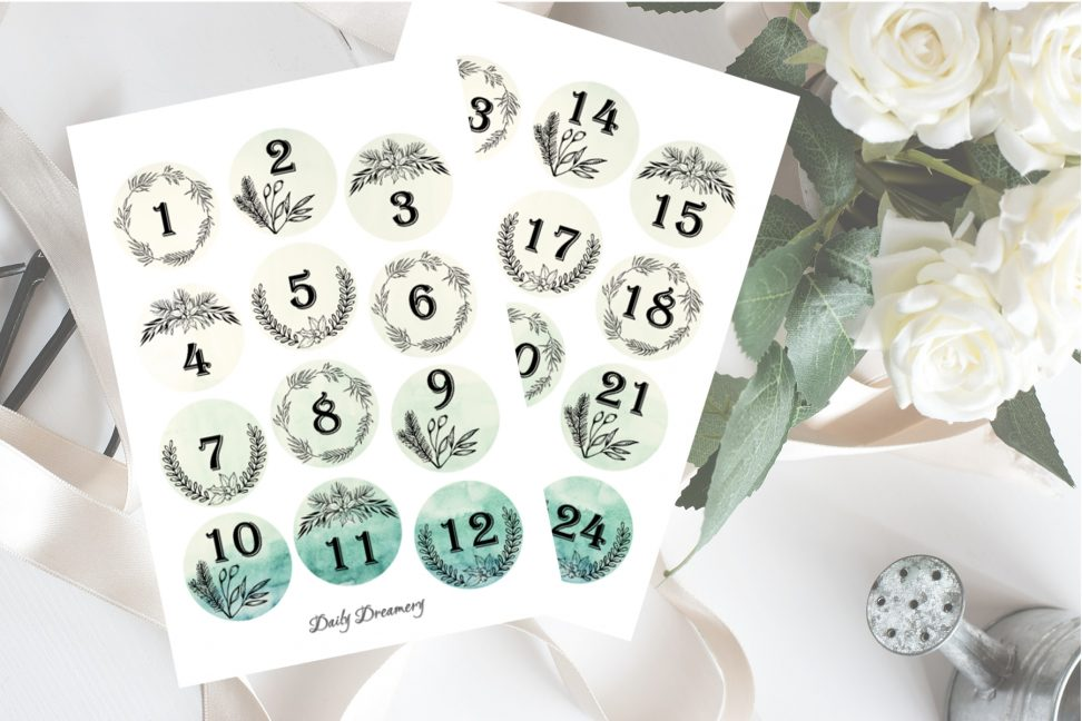 Sticker für DIY-Adventskalender #adventskalender, #diy #sticker