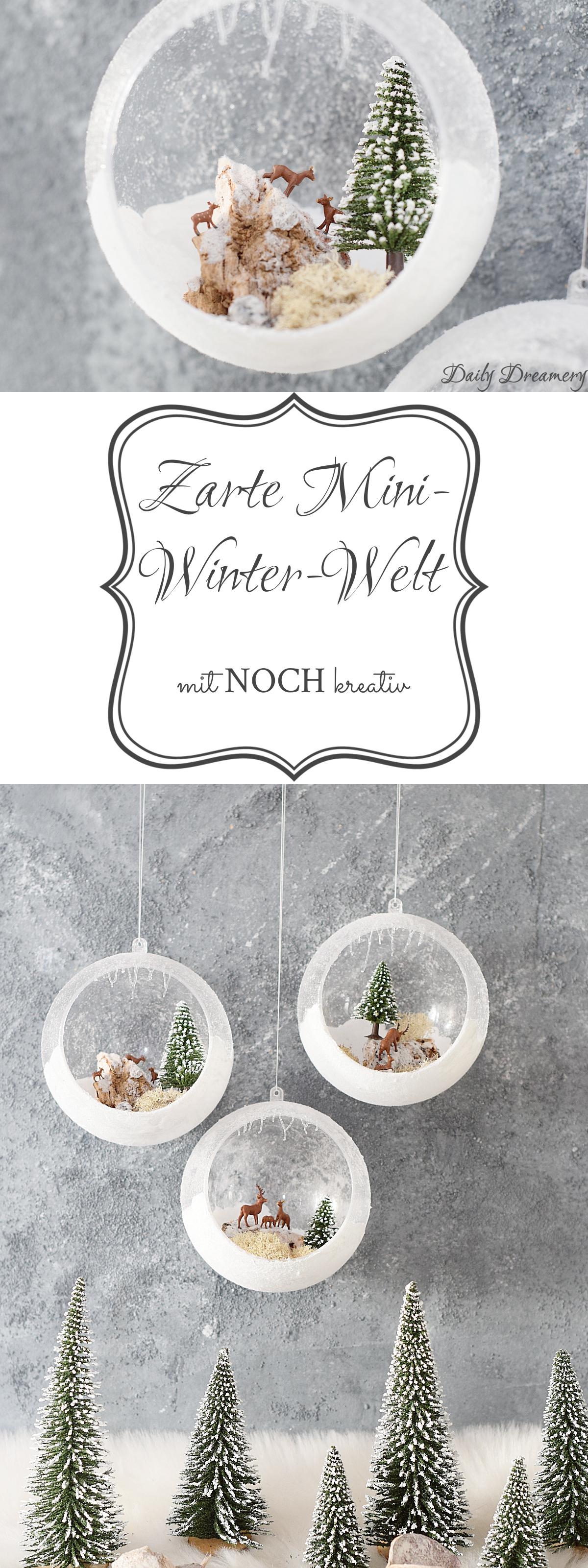 Zauberhafte Winter- und Weihnachtsdekoration mit den Produkten von NOCH kreativ
