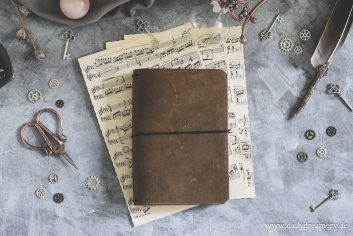 Daily Dreamery Travelers Notebook A5 in Olivegrün